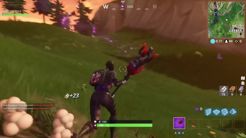 [takecontrolz] Fortnite new glider gameplay.DARK GLYPH - MAKES CUBE NOISES