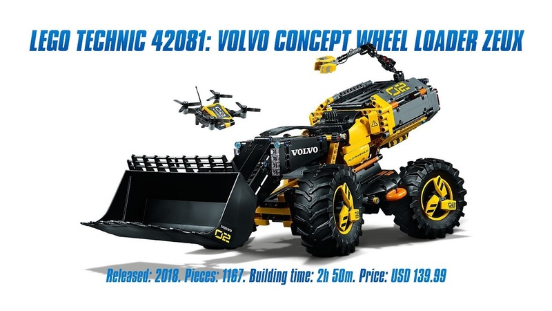 LEGO Technic 42081 Volvo Concept Wheel Loader ZEUX In-depth Review Speed Build [4K]
