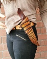 Aaron &amp Francesca Wilburn on Instagram This is my Daughter displaying a sheath that she made for a leather workers competition. To vote and sup...