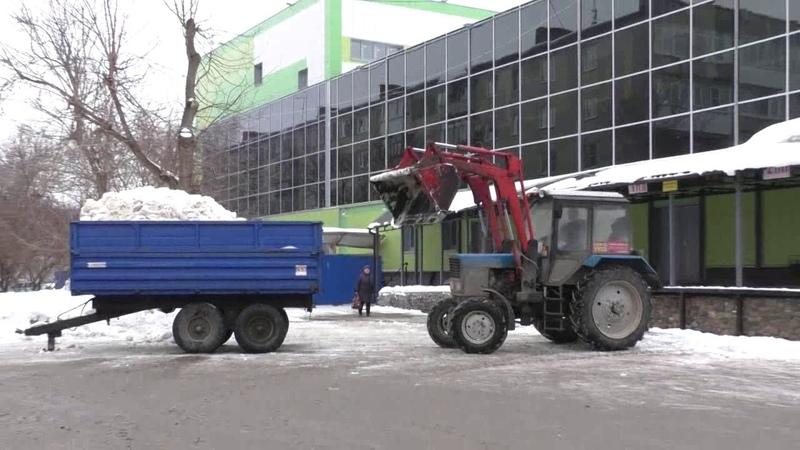 Уборка снега у Эдема 4 6 марта 2019