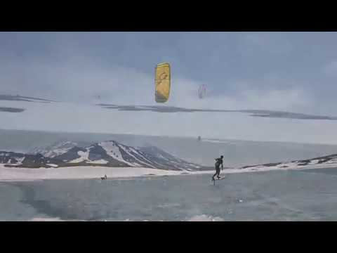 Kiteboarding in the caldera Gorely volcano - Rise Up Kiteteam - Kamchatka