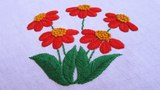 Hand Embroidery Raised Fishbone Stitch Hand Embroidery Designs #37