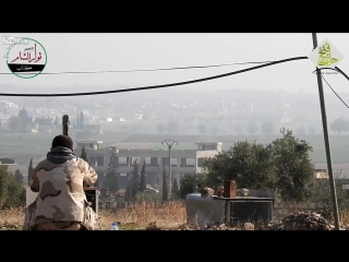 9M14 Malyutka missile targets a Syrian technical vehicle