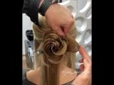 А вот ещё один вариант розочки из волос!!!!