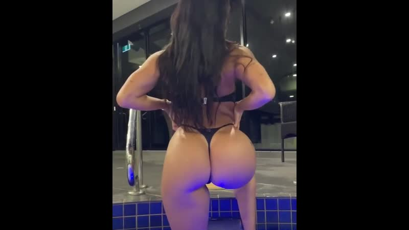 Amazing ass in thong