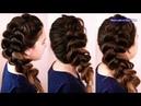 Воздушная объёмная коса Новогодняя причёска Trenza Hair tutorial