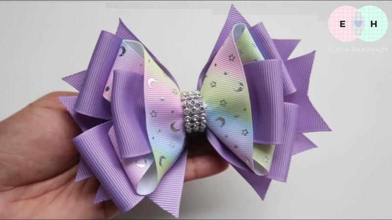 Laço De Fita 🎀 Ribbon Bow Tutorial 25 🎀 DIY by Elysia Handmade