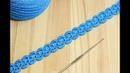 Ленточное кружево с пышными столбиками вязание крючком How to Crochet for Beginners