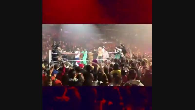 A$AP Rocky сражается в реслинг на Yams Day 2019 [Новая Школа]