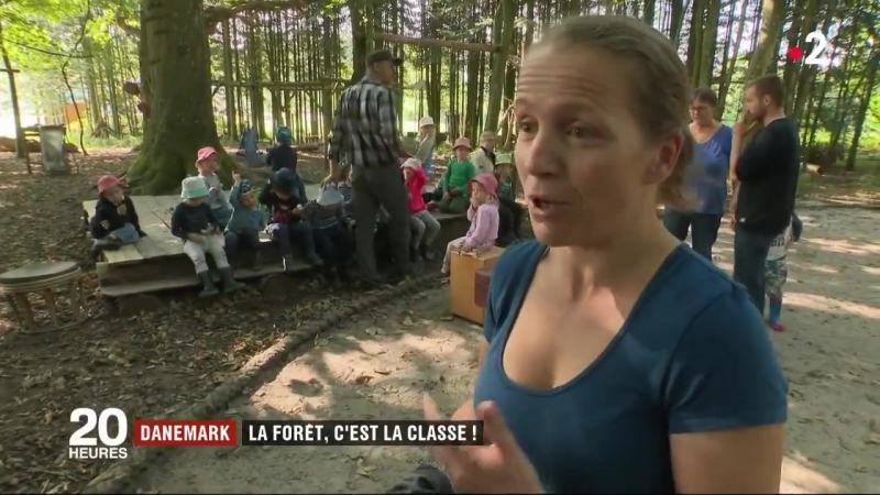 Au Danemark de nombreux enfants vont à l'école au milieu des bois