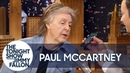 Paul McCartney Leaves a Voicemail at Jimmy Fallon's Childhood Phone Number