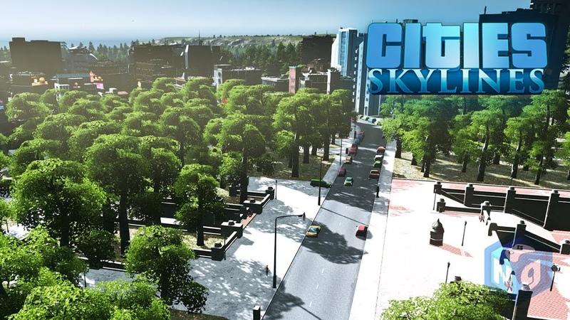 Cities Skylines Обустройство паркового района 17