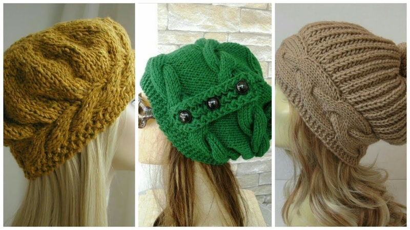 Simple Winter Woolen Caps Designs For GirlsLatest Fashion