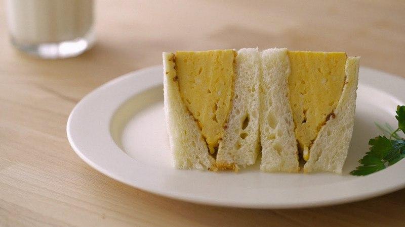 몽글몽글 부들부들 계란샌드위치 : Egg omelet sandwich   Honeykki 꿀키