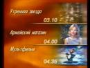 Рекламный блок, программа передач и конец эфира ОРТ, 07.03.1998 Pringles, Кинопарк, Twix 8