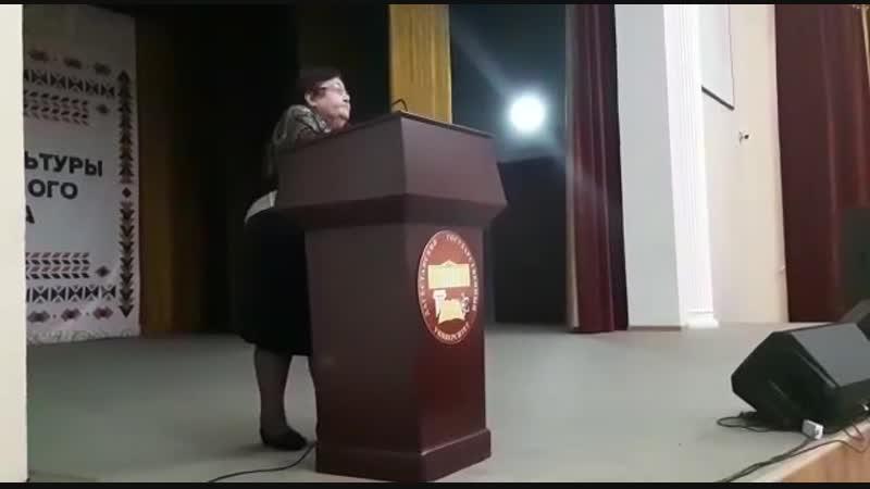 Выступление Алиевой Раисы Раджабовны на Слете отличников ДГУ (2018г)э