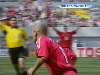 ЧМ-2002. Хасан Шаш (Турция) - гол в ворота сборной Китая