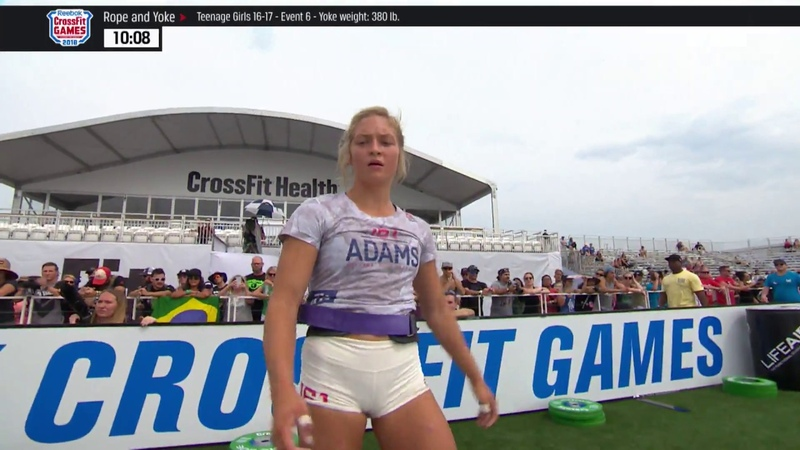 2018 CrossFit Games | Age Group Yoke and Rope (16-17 35-49)