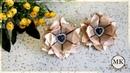 Простые резинки. Цветы из лент. Канзаши. МК. / DIY. Scrunchy. Ribbon flowers. Kanzashi.