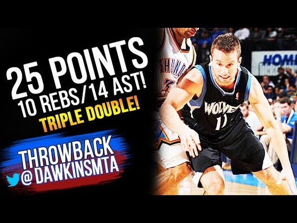 JJ Barea Triple Double 2012.03.23 TWolves at Thunder - 25 Pts, 10 Rebs, 14 Asts!