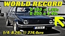 QUICKEST GOLF ON EARTH | Boba´s 1233HP Golf Santa Pod Raceway 2018 | New World Record!