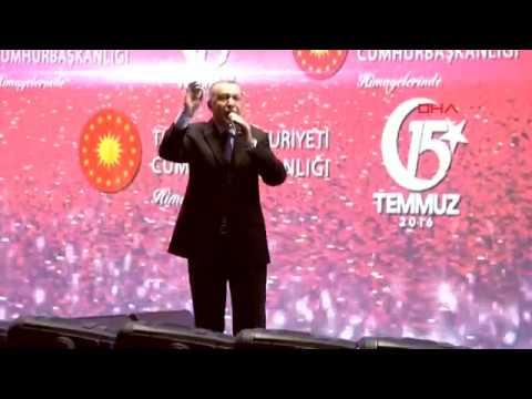 Recep Tayyip Erdoğan ın 15 Temmuz Şehitler Köprüsü konuşması 15 Temmuz 2018 iyihabertv Live