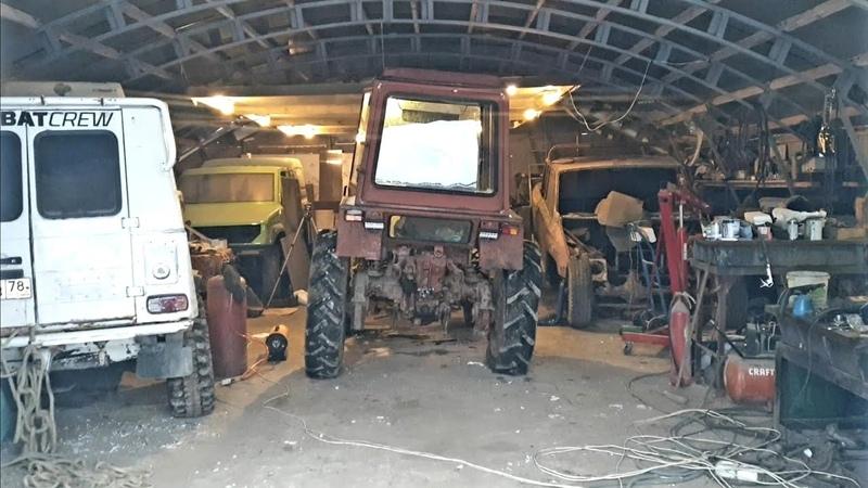 Обзор на наш ангар, место где мы снимаем трактор и гоблин.