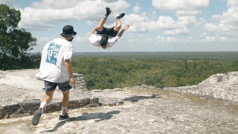 Parkour at Ancient Mayan Pyramids 🇲🇽