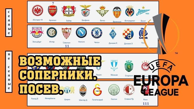 Кто попадётся Зениту, Краснодару, Шахтеру и Динамо? Посев перед жеребьевкой 1/16. Лига Европы.