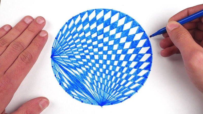 How To Draw Spirograph Pattern Art In Circle