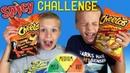 Twins SPICY HOT Cheetos Challenge
