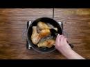 Куриные голени с вишней