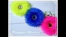 МК Воздушные яркие цветочки из узкой органзы 🏵️/Bright flowers/Flores brilhantes