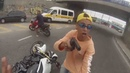 Policial atira em ladrão em tentativa de assalto a moto Hornet Branca - Com Legenda e Camera Lenta
