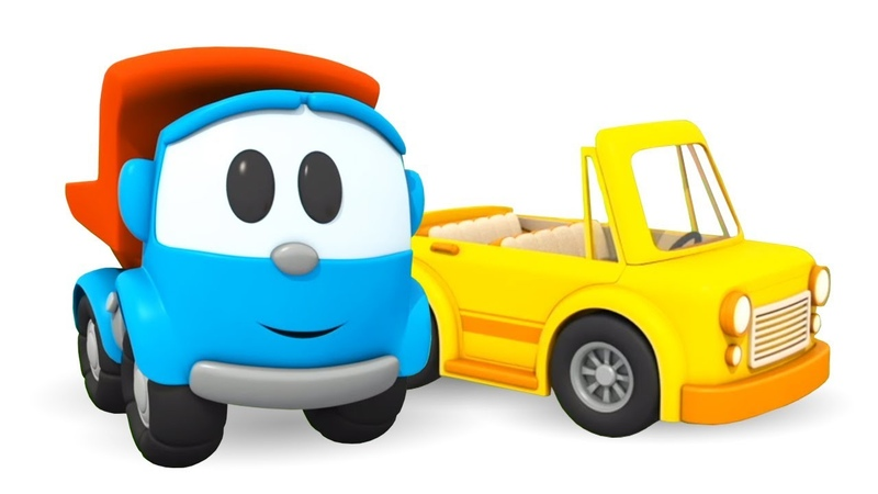 Leo the Inquisitive Truck and the Convertible: A Cartoon for Kids.