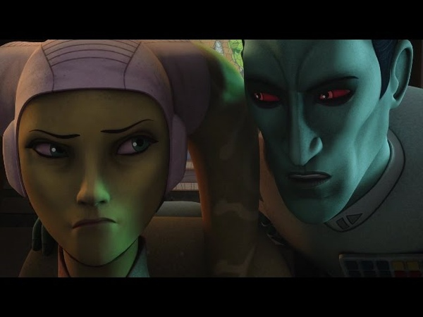 Star Wars Rebels Admiral Thrawn Meets Hera Syndulla For the First Time HD