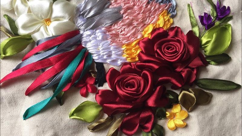 D.I.Y Ribbon Embroidery Bird Hướng dẫn thêu ruy băng chú chim