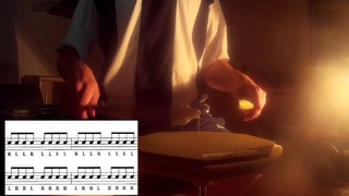 Drum ex. Moeller Pumping Motion: Triplets, Quarter, Paradiddle