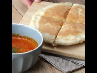 Сырный хлеб (Cheese Naan Bread)