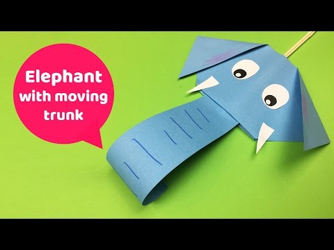 Easy DIY for kids FUN Elephant with moving trunk
