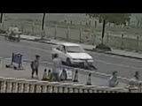 Breathtaking moment 11-year-old boy swallowed by a car