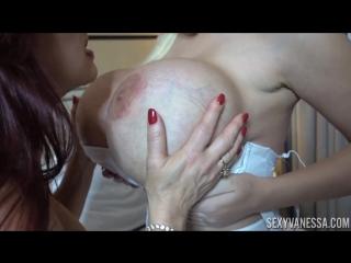 Dolly fox, sexy vanessa - big tit brigade [big tits, lesbian, mature, pussy licking, masturbation, lingerie, stockings, 1080p]