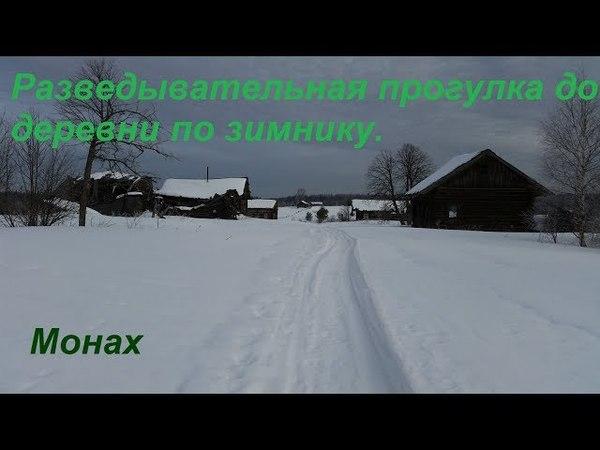 Разведывательная прогулка до деревни по зимнику.