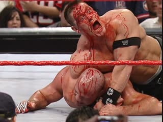 WWE.Monday.Night.Raw.2006.01.02 - First Blood Match vs John Cena and Kurt Angle