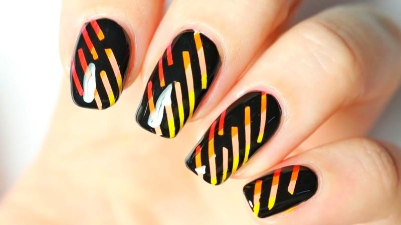 Простые Идеи Дизайна Ногтей со Скотч Лентой 💅 Маникюр с помощью липкой-ленты для ногтей