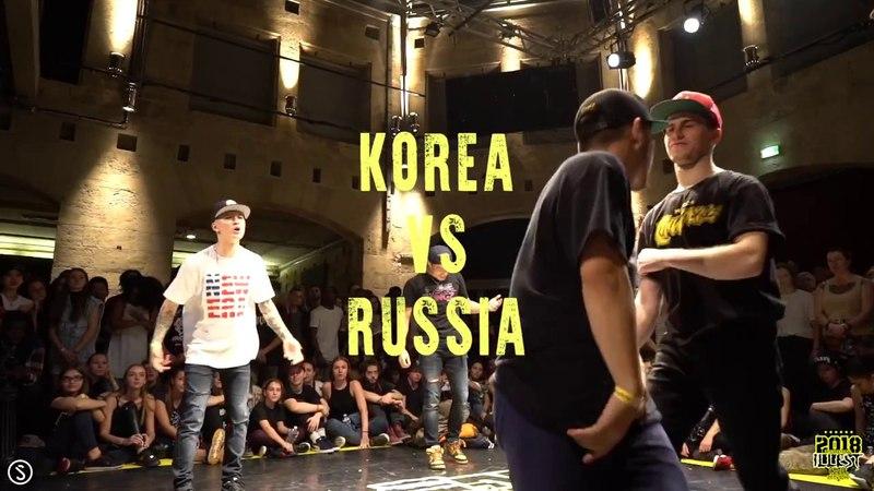 INTERNATIONAL ILLEST BATTLE 2018 I FINAL TEAM I PRIMEKINGZ (KOREA) VS SK RUSSIA (RUSSIA)