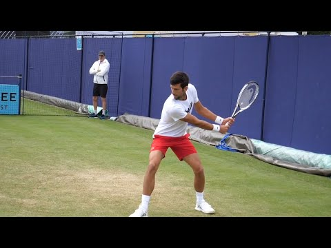 Novak Djokovic Backhand Slow Motion 2018 HD