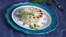 Салат с сайрой консервированной и рисом