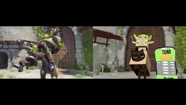 [Comparison] Orisa and Purrisa · coub, коуб