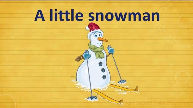 A little snowman. Christmas poem. Стихотворение